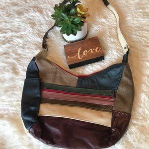 Handbags - Genuine Leather AMAZING 70's Vibe Patchwork Purse
